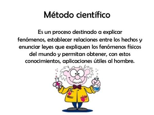 Definición de método científico