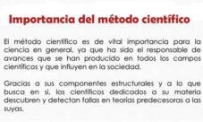 ¿Cuál es la importancia del método científico?